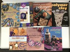 Lot Of 7 Polymer Clay Magazine Book Arts And Crafts