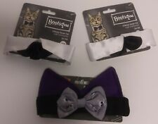 3X Bootique Classy Bow Tie & Skull Dog Bone Cat Dog Costumes Halloween One Size