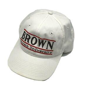 Brown University Split Bar White Snapback Hat The Game Vintage Bears RI Cap