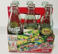 Coca Cola Collectible 6 - 8oz Bottles 100th Anniversary Mackinaw Island, MI