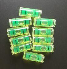 "10 x 9.5mm(D)X25mm ~1"" Acrylic Tube Bubble Spirit Level Vial 3/8""=9.5mm Diameter"