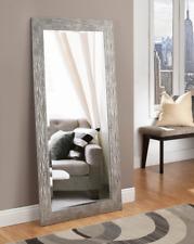 Large Full Length Floor Mirror Leaning Silver Metal Lounge Bedroom Dressing New