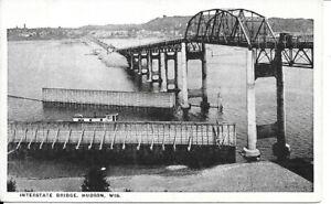 Hudson, Wisconsin. Unused Postcard of Interstate Bridge.