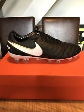 BNIB Nike Tiempo Legend VI FG Football Boots - Black / White - UK Size 7
