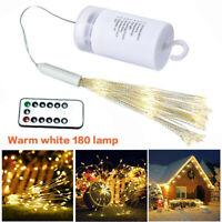 180 LED Feuerwerk Lichterkette Weihnachten Wasserdicht Beleuchtung Außen