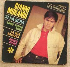 GIANNI MORANDI Si Fa Sera 45 Tours 1965