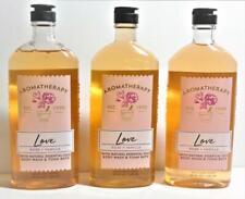 3 Bath & Body Works Aromatherapy LOVE Rose Vanilla Body Wash Foam Bath 10 oz