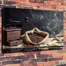 "CHICCHI di caffè Wall Art Stampa Foto su tela A1.30""x20"" 30 mm TELAIO PROFONDO DA CUCINA"