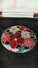 VINTAGE Cloisonné Enamel Signed Seagems Flower Large Brooch / Pin.