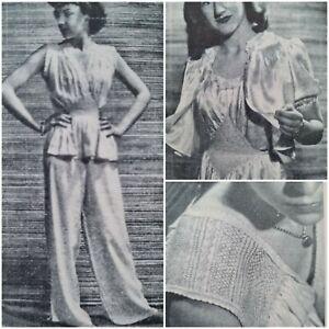 1940s Smocking Grecian Nightie Pyjamas Bed Jacket Baby Dress Pattern Woman's Day