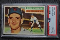 1956 Topps - 327 - Bob Wiesler - PSA 8 - Gray Back - NM-MT