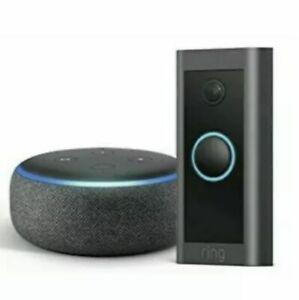 Ring Video Doorbell 2021 3rd Gen and Echo Dot with Alexa 3rd Gen Charcoal NEW