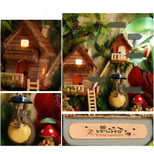 DIY Dollhouse Miniature 3D DollHouse Box Theatre Child Toy Gifts Countryside LED