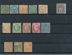 D157202 French Colonies Nice selection of MH + VFU Used stamps