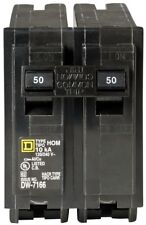 Square D 50 Amp 2-Pole Circuit Breaker Homeline Standard Trip Residential