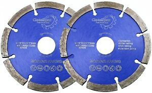 CLASSICPRO 115MM MORTAR RAKING DISC DIAMOND POINTING  BLADE ANGLE GRINDER 2 PACK
