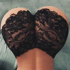 Mujer sexy lencería encaje floral breve bragas tanga cintura alta bragasES