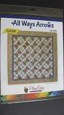 Classic  All Ways Arrows Lap Quilt by Plum Easy Pattern New