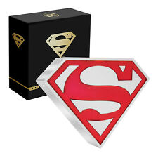 More details for collectable superhero superman shield 2 dollar 1oz silver coin limited edition