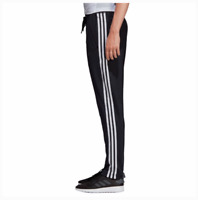 New Women's Adidas 3 Stripes Track Pants Black White Activewear