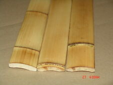 25 - 6 ft Carbonized Bamboo Flat Plank Slats Wall Fence Tiki Bar Roof