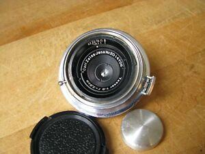 Carl Zeiss Jena 28mm Tessar f/8 2.8cm Lens in Contax Rangefinder Unique Aperture