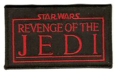 + Star Wars ricamate patch carattere title logo Revenge of the Jedi
