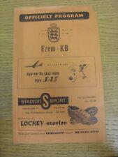 30/04/1960 Frem v Kjøbenhavns Boldklub  (4 Pages, creased, score on front, worn