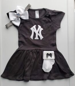 Yankees toddler/baby girl clothes Yankees baby gift girl Yankees baseball girl