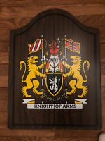 Knight Of Arms dart board cabinet only