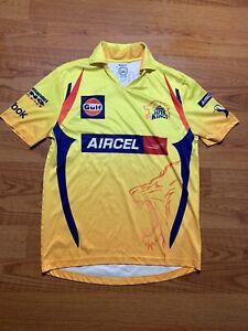 Chennai Super Kings Jersey Reebok Size Small India Cements #9 Shandilya Cricket
