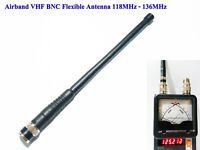 AirBand VHF BNC Flexible Antenna for Airband Handheld Radio 118MHz - 136MHz