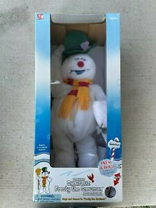 Brand NEW in Box Gemmy Snowflake Spinning Frosty The Snowman RARE HTF