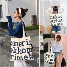 Women's Heavy Duty 100% Canvas Reusable Foldaway shopping Shoulder tote hand bag