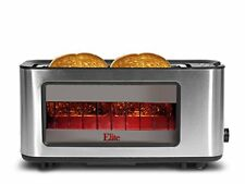 New Elite Platinum Stainless Steel Glass Toaster ECT 153