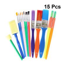 15Pcs Pinceau à Peindre -Loisir Créatif - Pack de 15 pinceaux