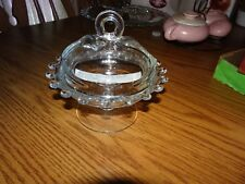Vintage Heisey LARIAT Glass Footed Covered Cheese Candy Pedestal Bowl Dish