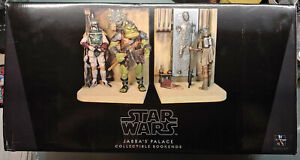GENTLE GIANT STAR WARS JABBA'S PALACE BOOKENDS BOBA FETT HAN SOLO LEIA RARE NEW