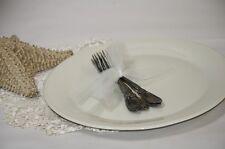 """Lenox China Plate Service Plate Cream No Trim 12.75"""" Diameter Special"""