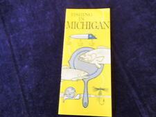 Vintage Fishing in Michigan Information Brochure Q317
