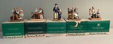 "Vintage Norman Rockwell Set of 5 - Original Boxes Excellent ""Museum Miniatures"""