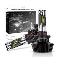 H13 9008 1900W 285000LM  LED Headlight Bulb Kit Hi/Lo Beam 6000K Pair