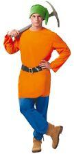Homme Orange jardin Gnome Cartoon Film Fancy Dress Costume Outfit Taille L
