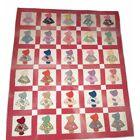 "Vintage Hand Stitched Sun Bonnet Sue Applique Quilt 71""x 85"" Crafting Quilting"