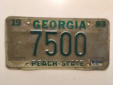 1983 Georgia License Plate Low Number Digit YOM Ford Chevy Dodge Coweta County