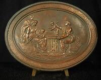 Medal Merchant D'Lovers Saleswoman of Loves Gold Cherubs XIX Th 185mm Medal 铜牌