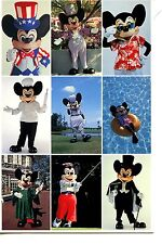 Many Faces-Costumes of Mickey Mouse Disney Character-Florida-Modern Postcard