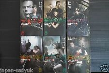 JAPAN novel: Resident Evil / Biohazard vol.1~6 Set