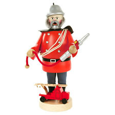 Standing Wooden Fireman Holding Hose Incense Burner Smoker Made In Germany