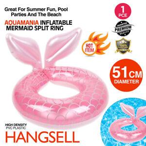 Mermaid Split Ring 51cm Swim Ring Swimming Pool Inflatable Kids Floating Fun Toy